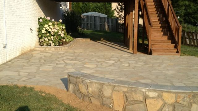Flagstone Patio in Reston, VA