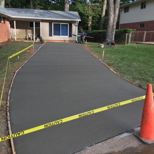 Concrete Driveway, Brick Sidewalk, Concrete Base in Fairfax, VA - Wright's Concrete