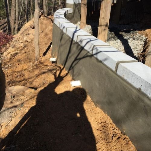 Block Retaining Wall in Vienna VA - Wright's Concrete