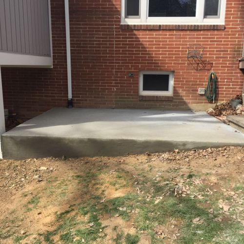 Flagstone Walkway, Concrete Jacuzzi and Shed Pads in Annandale, VA - Wright's Concrete