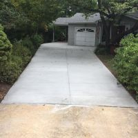Concrete Drive with Drain, Pennsylvania Variegated Flagstone Entryway & Sidewalk in Annandale, Virginia - Wright's Concrete