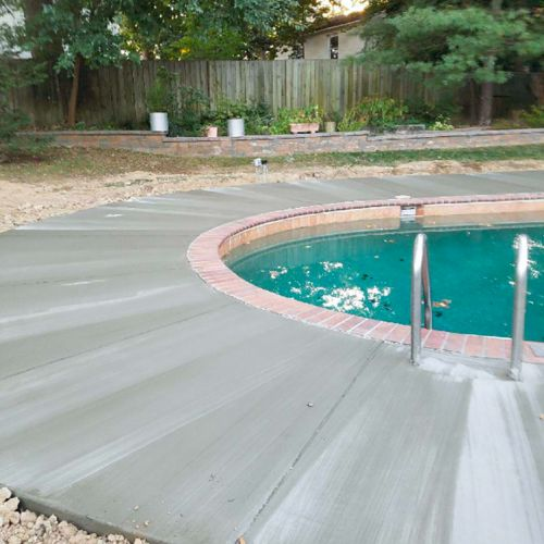 Cement Swimming Pool Deck in Mount Vernon, VA - Wright's Concrete