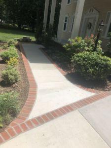 Concrete Driveway and Sidewalk with Brick Borders, Alexandria, Virginia - Wright's Concrete