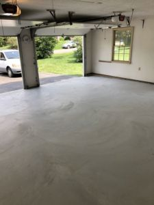 Concrete Garage Floor and Flagstone Sidewalk and Stoop in Sterling, Virginia - Wright's Concrete
