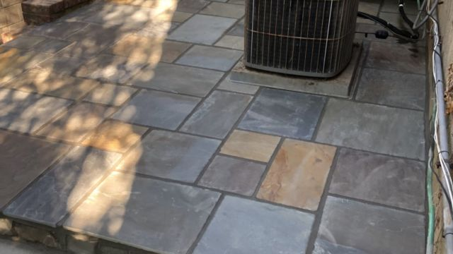 Patio and Sidewalk in Springfield, Virginia - Wright's Concrete