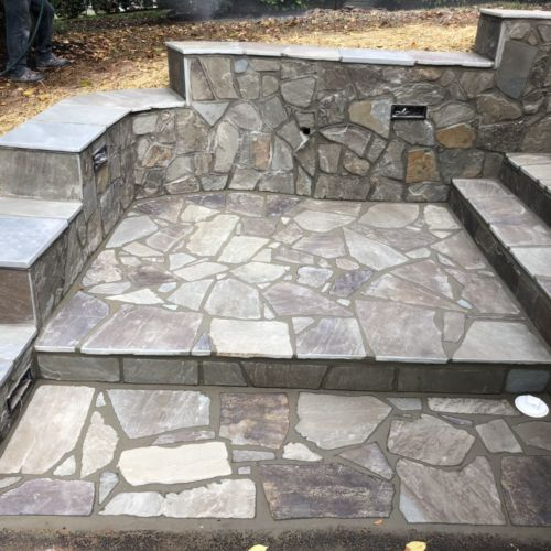 Flagstone Stoop and Steps in Fairfax, Virginia - Wright's Concrete