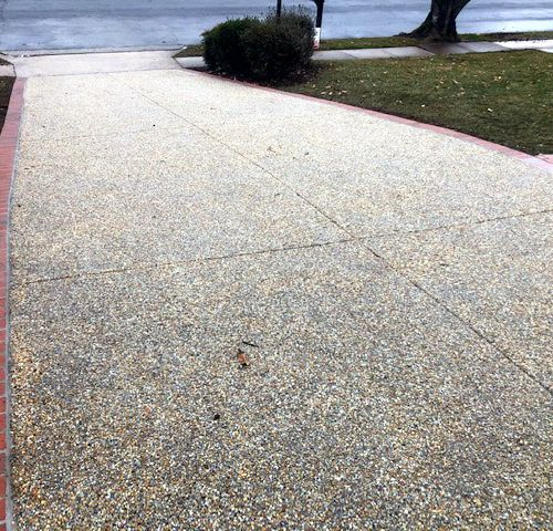 Exposed Aggregate Driveway, Falls Church, VA - Wright's Concrete
