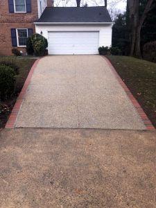 Exposed Aggregate Driveway, Falls Church, VA - Wright's Concrete