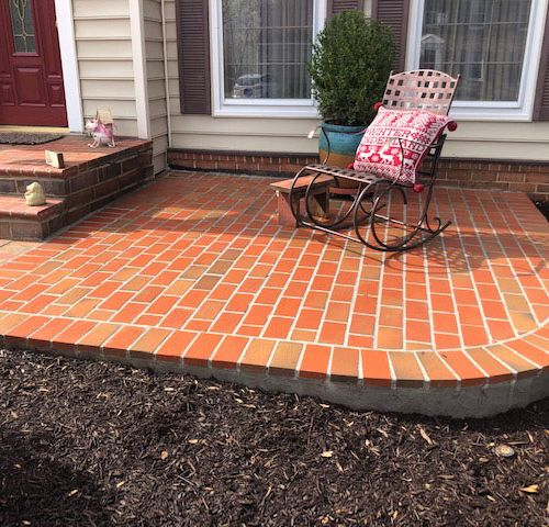 Brick Patio, Brick Steps and Brick Wall with Concrete base in Burke, Virginia