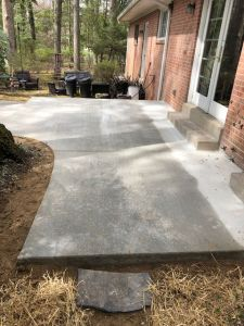 Concrete Patio in Vienna, VA from Wright's Concrete