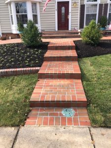 Brick Patio, Brick Steps and Brick Wall with Concrete base in Burke, Virginia - Wright's Concrete